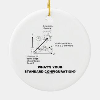 ¿Cuál es su configuración estándar? (La física) Adorno De Navidad