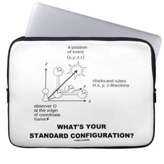 ¿Cuál es su configuración estándar? (La física) Mangas Computadora