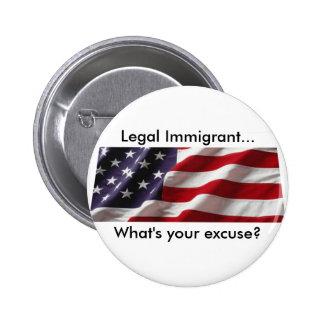 ¿Cuál es su excusa? Botón Pin Redondo De 2 Pulgadas