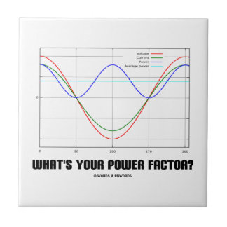 ¿Cuál es su factor de poder? (La física) Azulejos Ceramicos