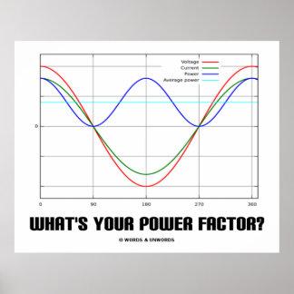 ¿Cuál es su factor de poder? (La física) Impresiones
