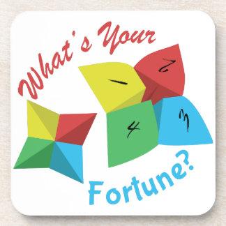 ¿Cuál es su fortuna? Posavasos De Bebidas