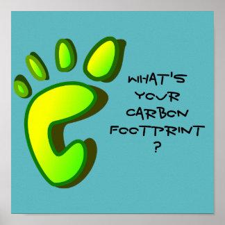 ¿Cuál es su huella del carbono? Póster