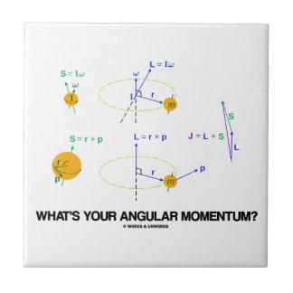 ¿Cuál es su ímpetu angular? (Diagramas de la físic Azulejos