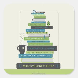¿Cuál es su libro siguiente? Pegatina Cuadrada