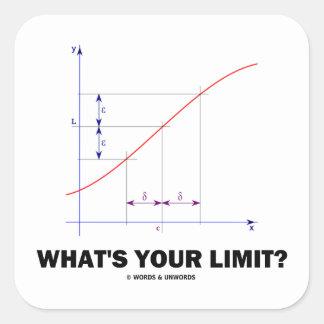 ¿Cuál es su límite? Humor del friki de la función Pegatina Cuadrada