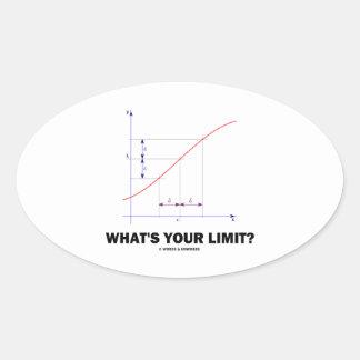 ¿Cuál es su límite? Humor del friki de la función Pegatina Ovalada