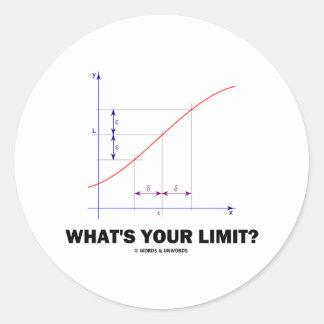 ¿Cuál es su límite? Humor del friki de la función Pegatina Redonda
