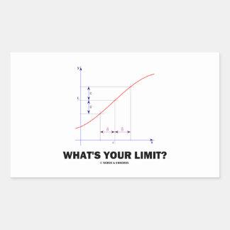 ¿Cuál es su límite? Humor del friki de la función Pegatina Rectangular
