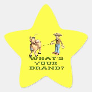 Cuál es su marca pegatina en forma de estrella