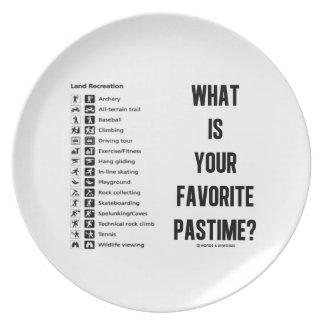 ¿Cuál es su pasatiempo preferido? (Reconstrucción  Plato