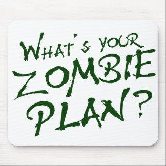 ¿Cuál es su plan del zombi? Alfombrilla De Raton