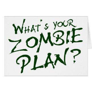 ¿Cuál es su plan del zombi? Felicitaciones
