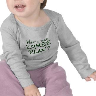 ¿Cuál es su plan del zombi? Camisetas