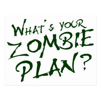 ¿Cuál es su plan del zombi? Postal