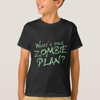 ¿Cuál es su plan del zombi? Remera