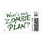 ¿Cuál es su plan del zombi? Sellos