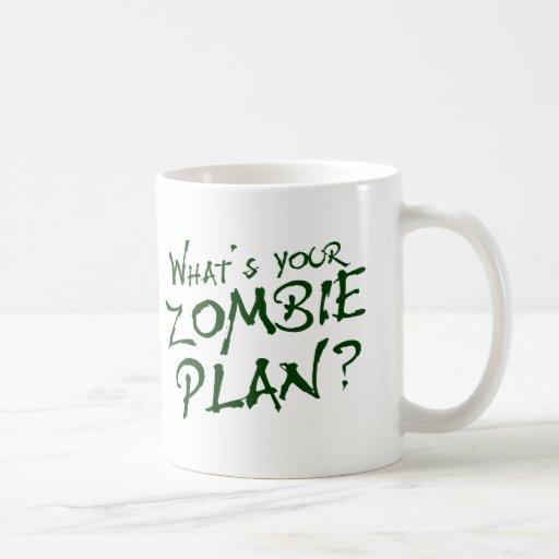 ¿Cuál es su plan del zombi? Tazas De Café