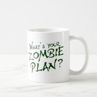¿Cuál es su plan del zombi? Taza Clásica
