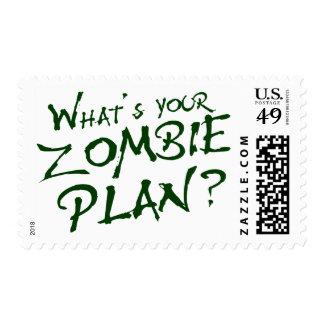 ¿Cuál es su plan del zombi? Timbre Postal
