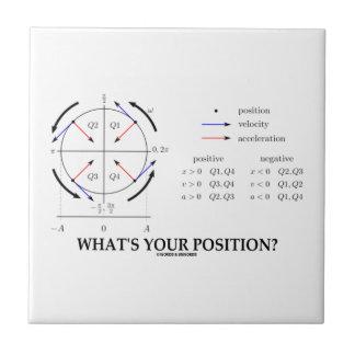 ¿Cuál es su posición? (Ímpetu angular) Tejas Cerámicas