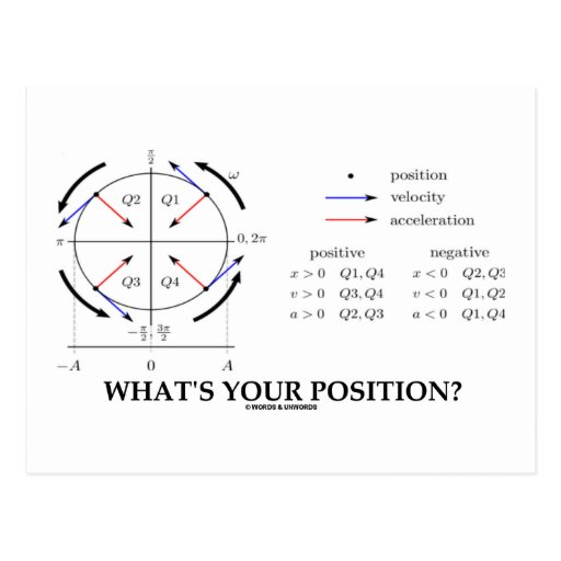 ¿Cuál es su posición? (Ímpetu angular) Tarjeta Postal