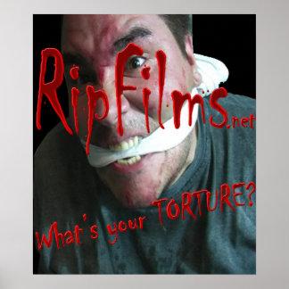 cuál es su poster de la tortura