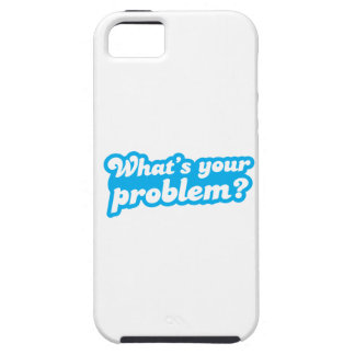¿Cuál es su problema? en azul iPhone 5 Carcasa