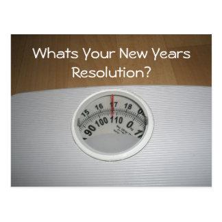 ¿Cuál es su resolución de los Años Nuevos? Tarjeta Postal
