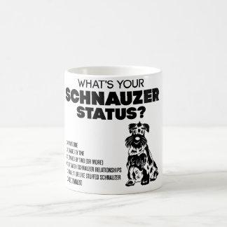 ¿Cuál es su situación del Schnauzer? Tazas De Café