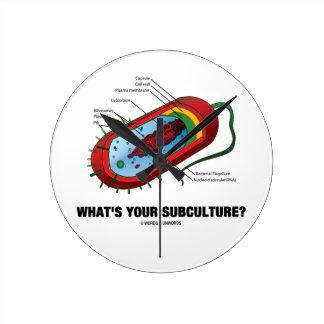 ¿Cuál es su subcultivo? (Bacteria del Prokaryote) Reloj Redondo Mediano
