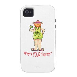 Cuál es su terapia vibe iPhone 4 carcasa