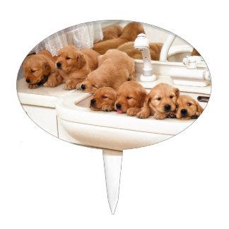 ¿Cuál es un baño? Los perritos lindos descubren Ba Figura De Tarta