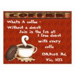 ¡Cuál es un café - sin un buñuelo! Tarjetas Informativas