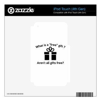 ¿Cuál es un regalo libre? Skins Para iPod Touch 4G