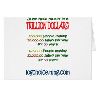 Cuál es un trillón tarjeta de felicitación