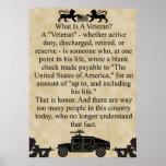 ¿Cuál es un veterano? Posters