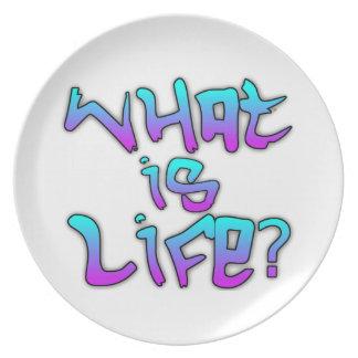 ¿Cuál es vida? Placa Plato Para Fiesta