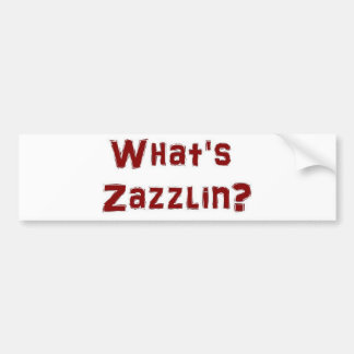 ¿Cuál es zazzlin? Pegatina Para Auto