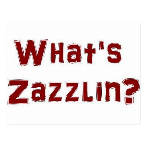 ¿Cuál es zazzlin? Postal