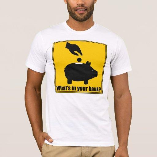 ¿Cuál está en su banco? Camiseta