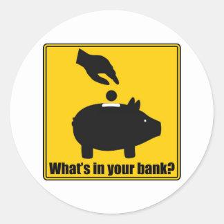 ¿Cuál está en su banco? Pegatina