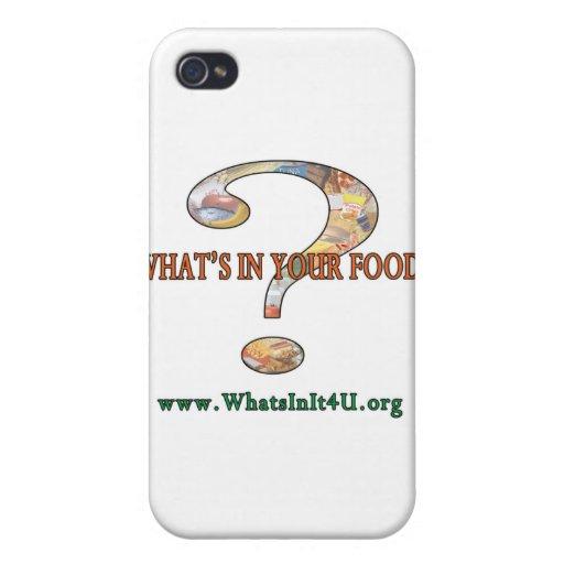 ¿Cuál está en su comida? iPhone 4 Protectores