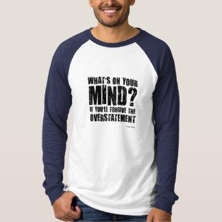 Cuál está en su mente?. Regalo inusual Playera