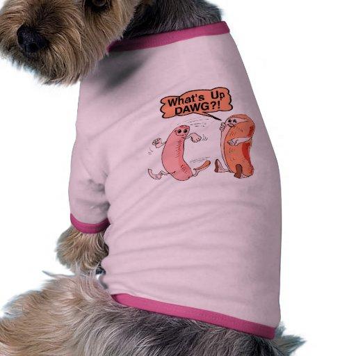 Cuál está encima de Dawg Camisa De Perrito