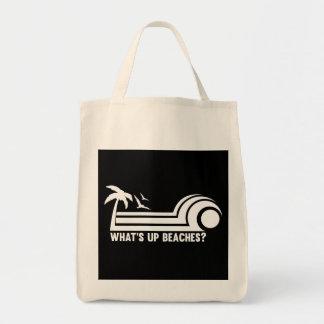 ¿Cuál está encima de las playas? Bolsa Tela Para La Compra