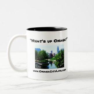 ¿Cuál está encima de Omaha? Taza De Dos Tonos