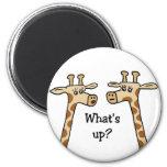 ¿Cuál está para arriba? Imán de la jirafa