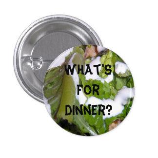 ¿Cuál está para la cena? Botón Pin Redondo De 1 Pulgada