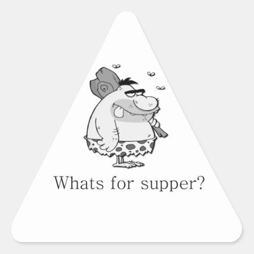 ¿Cuál está para la cena? Calcomanías De Triangulos